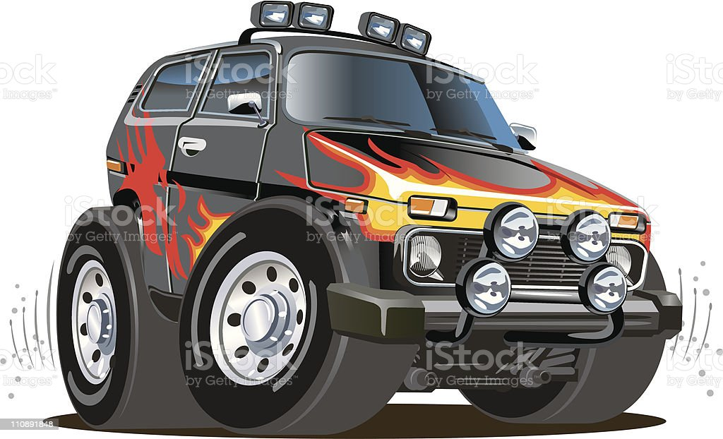 Cartoon jeep royalty-free cartoon jeep stock vector art & more images of 4x4