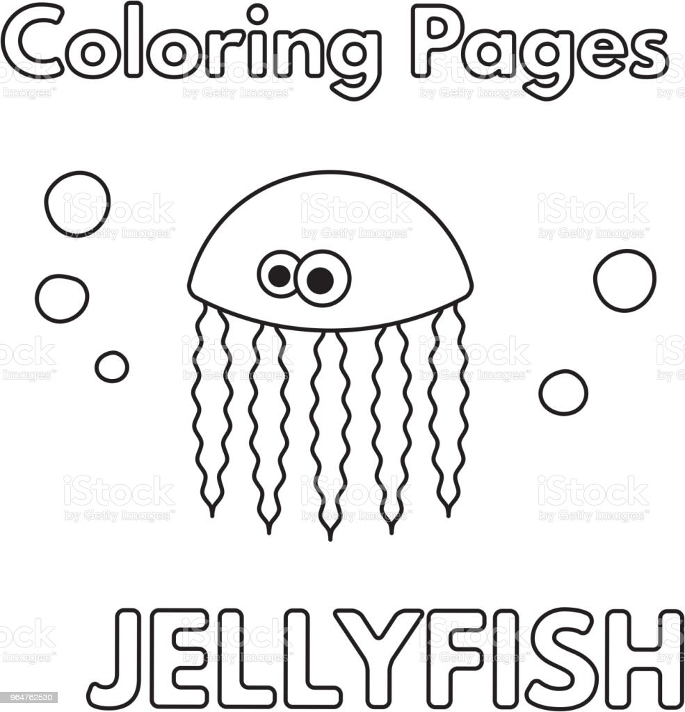 Cartoon Jellyfish Coloring Book royalty-free cartoon jellyfish coloring book stock vector art & more images of animal