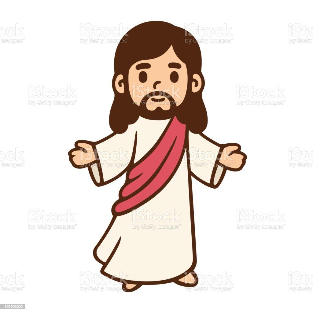 Cartoon Jesus drawing - Royalty-free Arte arte vetorial