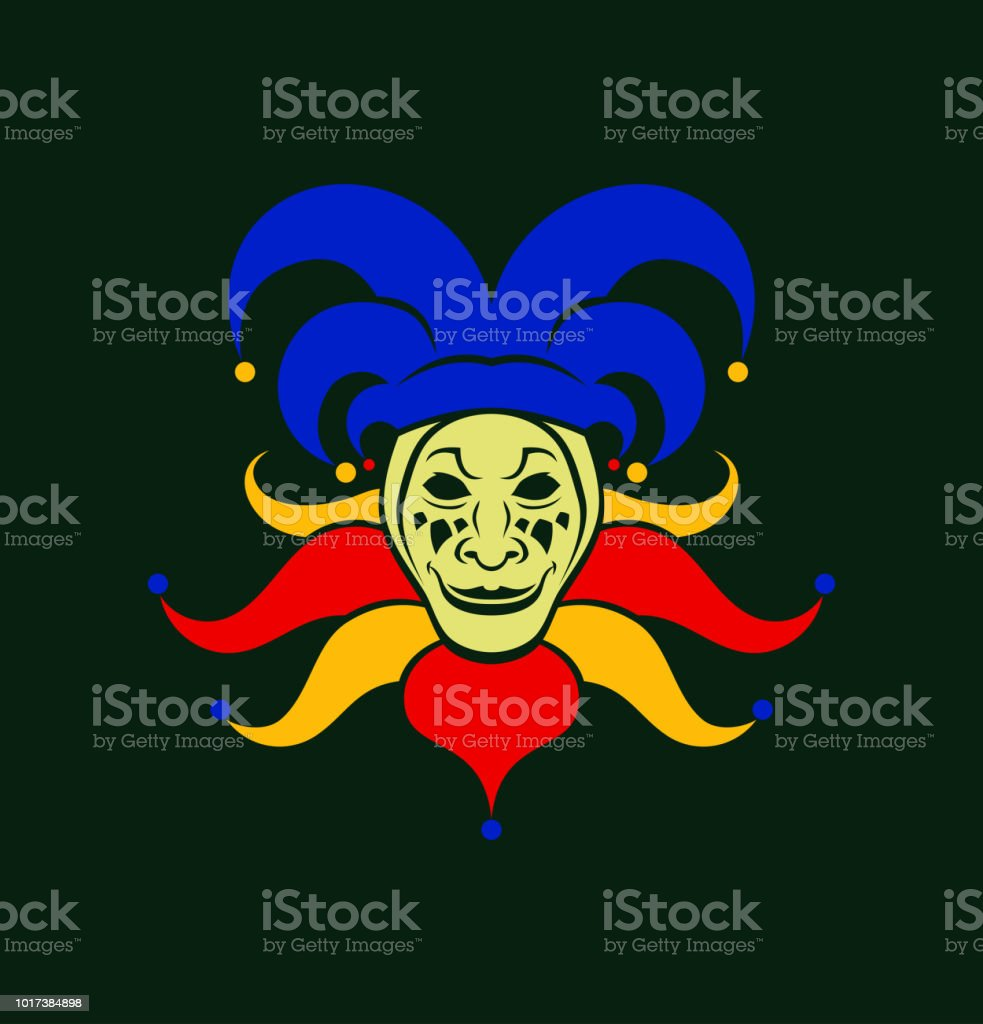 Cartoon Joker Character In Cap With Bells Stock Illustration