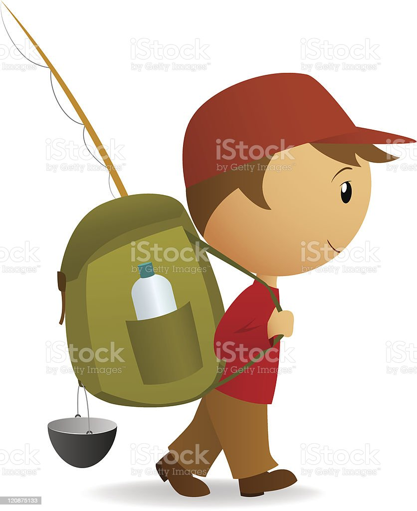 Cartoon journey man with big backpack royalty-free cartoon journey man with big backpack stock vector art & more images of adult