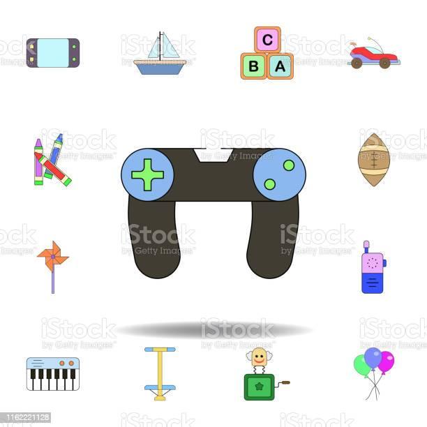 Cartoon joystick toy colored icon set of children toys illustration vector id1162221128?b=1&k=6&m=1162221128&s=612x612&h= s22tce6s7vaajmpytcxfho8kis peeiyxy t7p9hz4=
