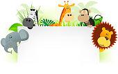Cartoon jungle animals letterhead