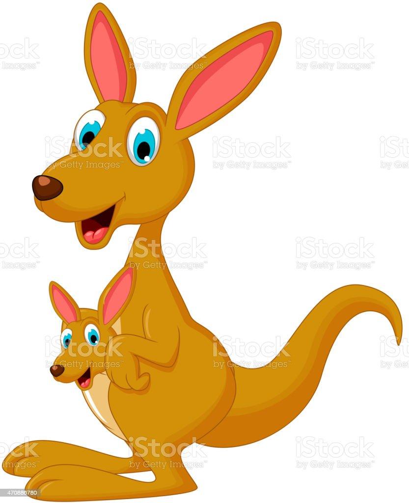 royalty free kangaroo cartoon waving clip art vector images rh istockphoto com kangaroo clipart australia kangaroo clipart outline