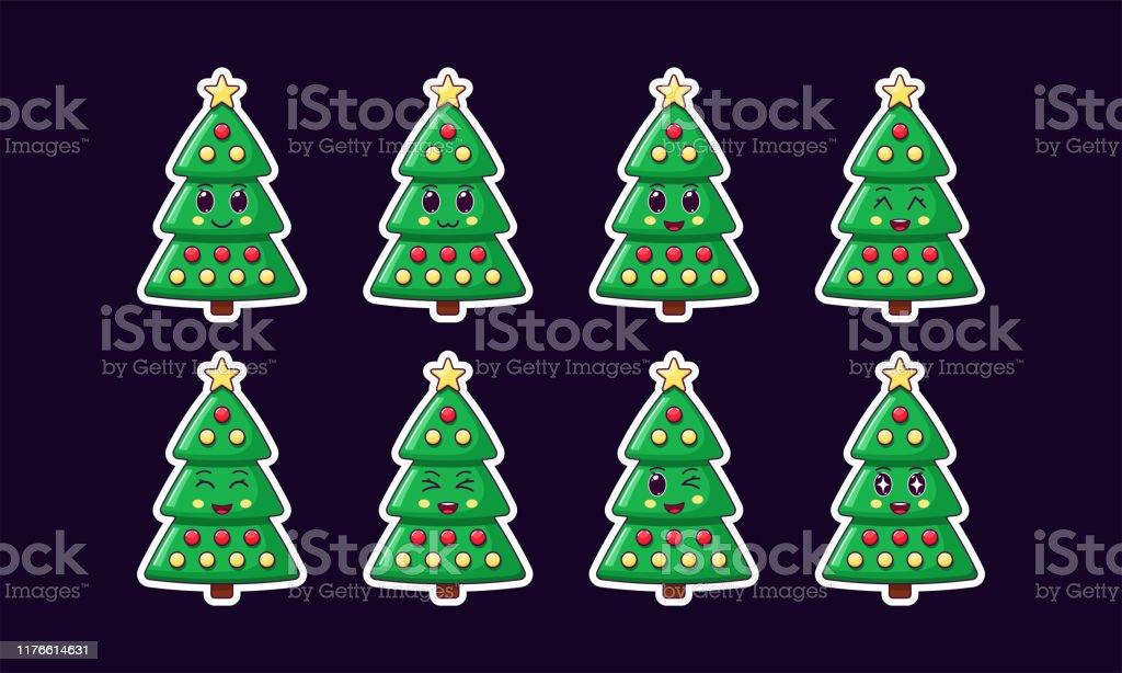 Cartoon Kawaii Christmas Tree Holiday Sticker Set New Year Stock Illustration Download Image Now Istock 780 x 1080 jpeg 73 кб. cartoon kawaii christmas tree holiday sticker set new year stock illustration download image now istock