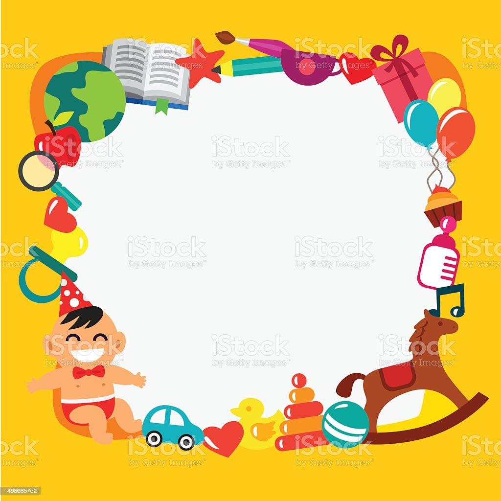 Cartoon Kinder frame – Vektorgrafik