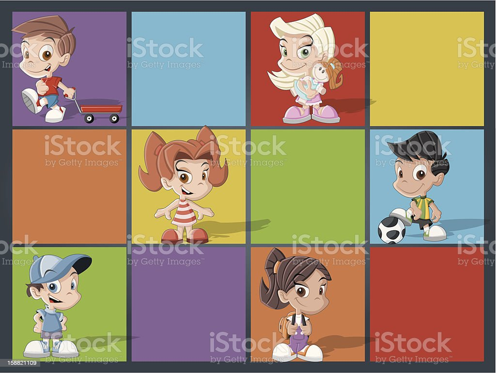 cartoon kids playing royalty-free cartoon kids playing stock vector art & more images of boys