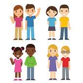 Cartoon kids set