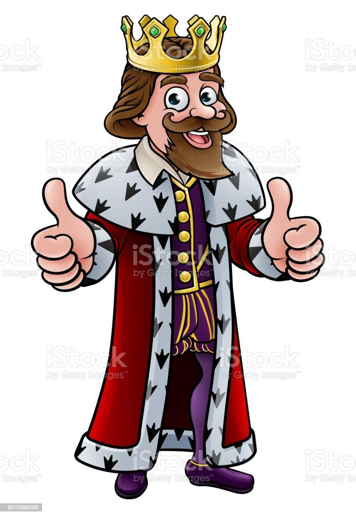 Cartoon King Character vector art illustration
