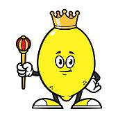 istock Cartoon King Lemon Character Illustration 1187534524