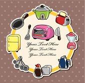 cartoon kitchen card