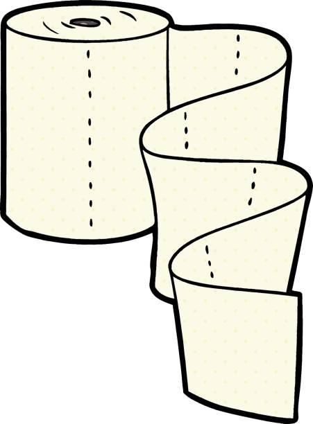 cartoon kitchen roll vector art illustration