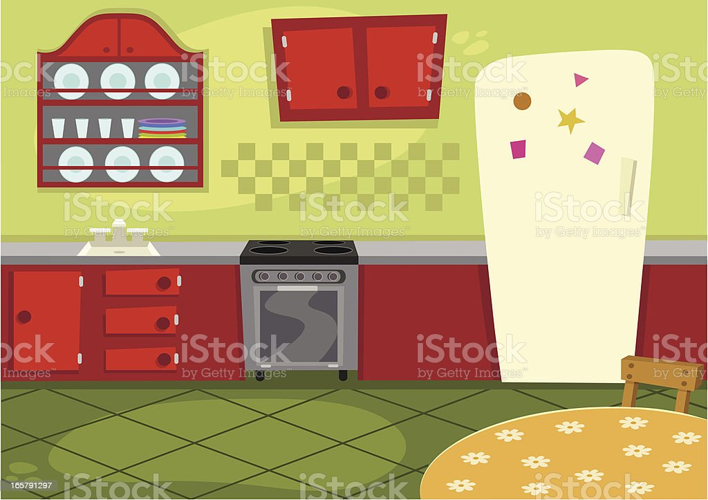 cartoon kitchen stock illustration  download image now