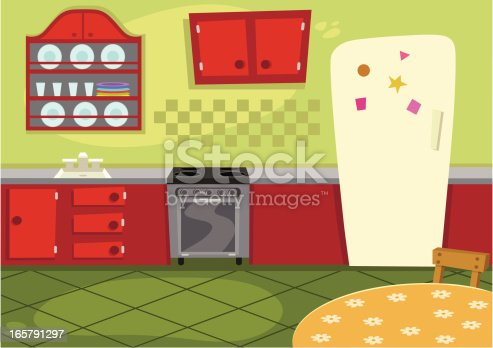istock Cartoon Kitchen 165791297