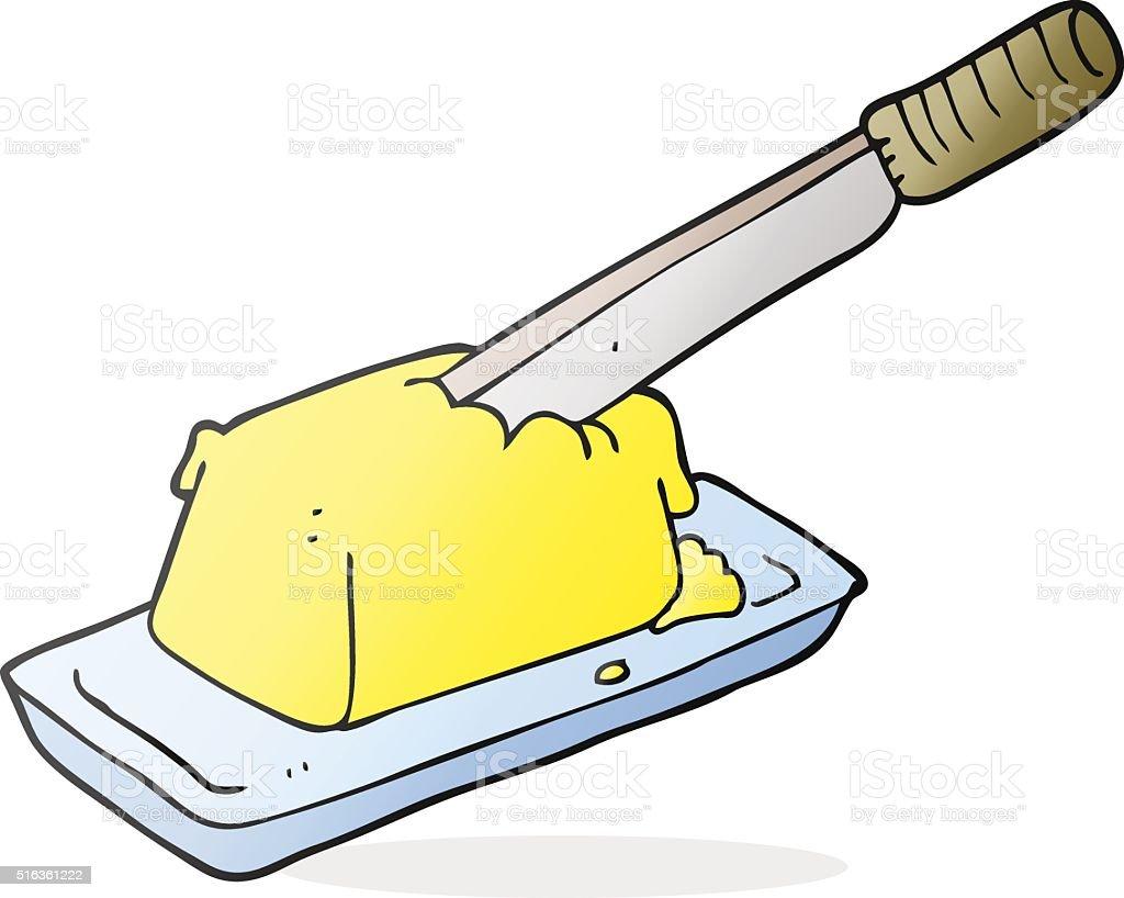 Comic Messer In Butter Stock Vektor Art Und Mehr Bilder