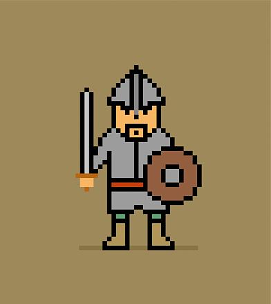 Cartoon knight warrior