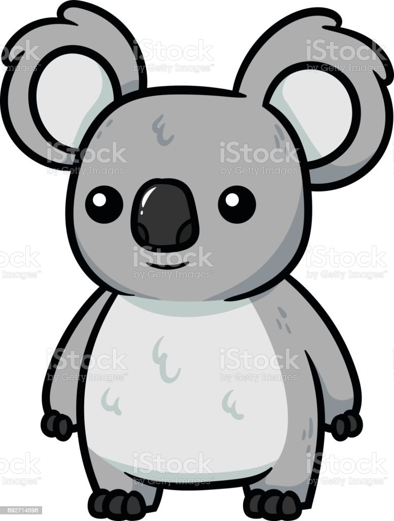 Cartoon Koala Vector Illustration vector art illustration