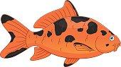 Cartoon koi carp