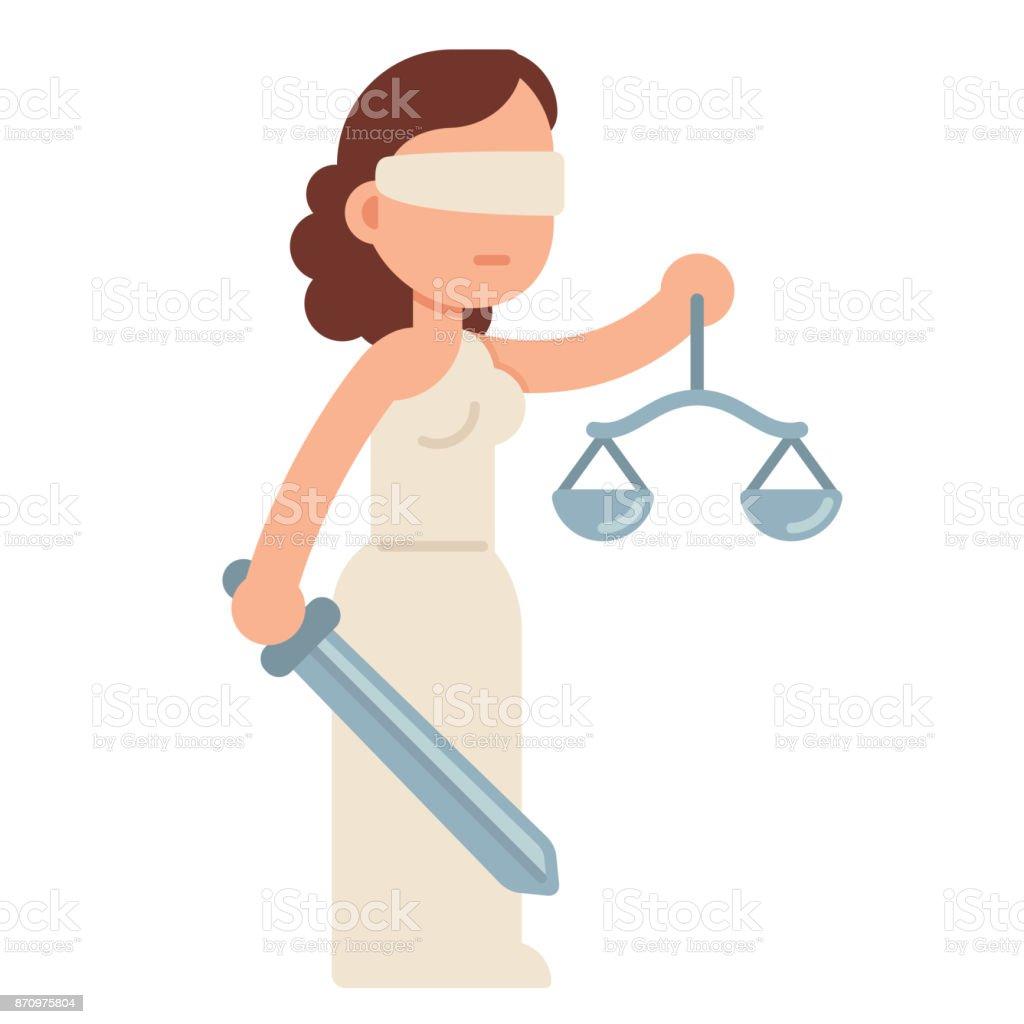 cartoon lady justice stock vector art   more images of Lady Justice Drawings Lady Justice Symbol