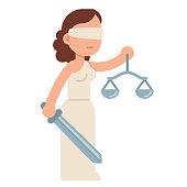 Cartoon Lady Justice