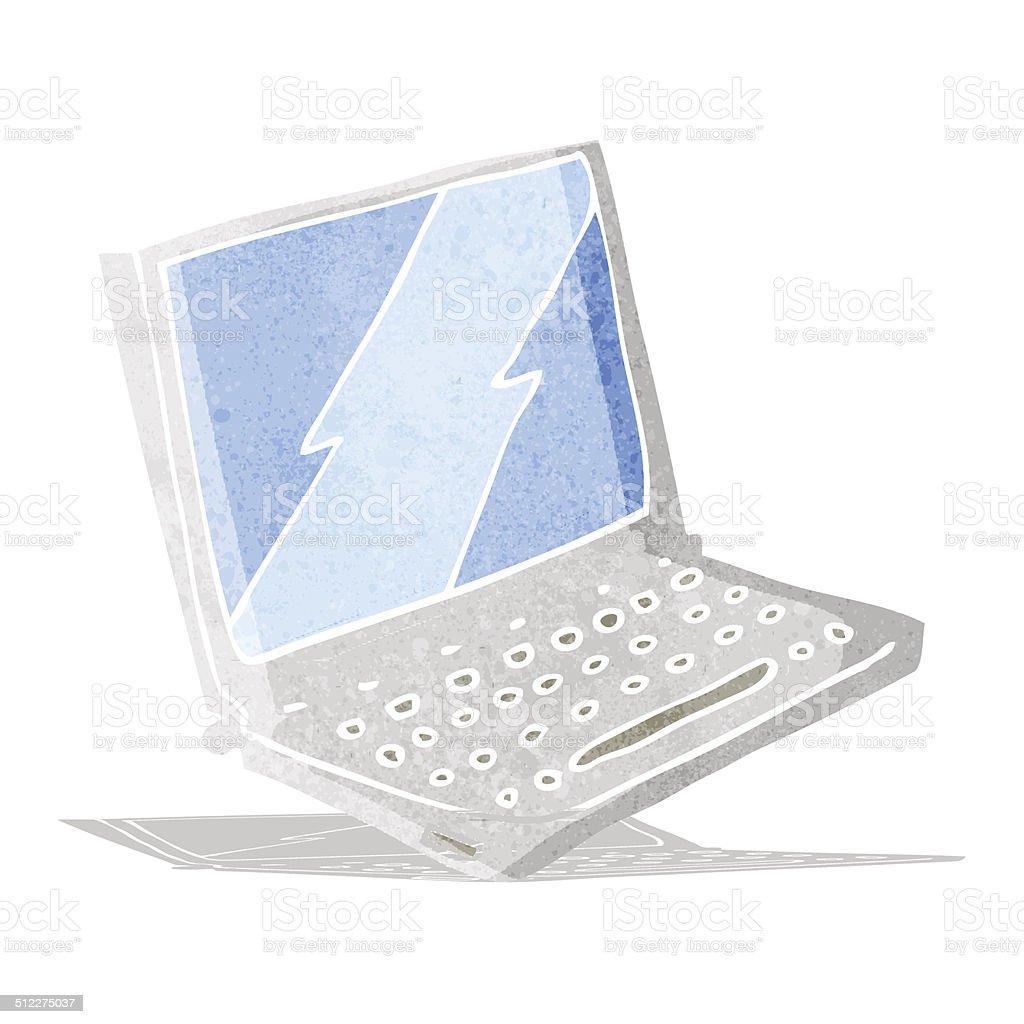 Comic Laptopcomputer Stock Vektor Art und mehr Bilder von Bizarr ...