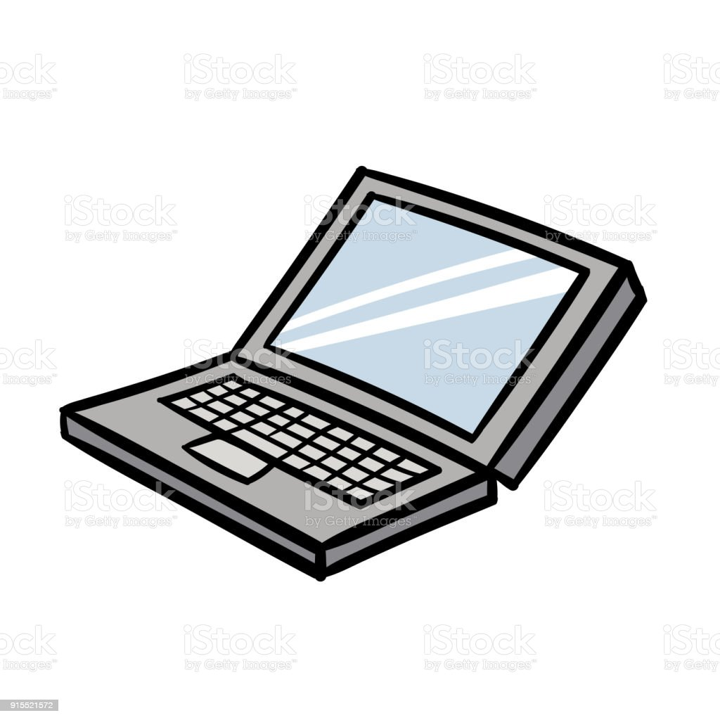 cartoon laptop vector illustration stock vector art more images of rh istockphoto com laptop vectoriel laptop vector icon