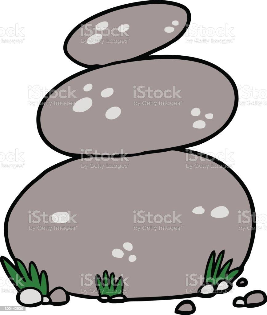 Dibujos animados grandes apilan piedras arte vectorial - Dibujos de piedras ...