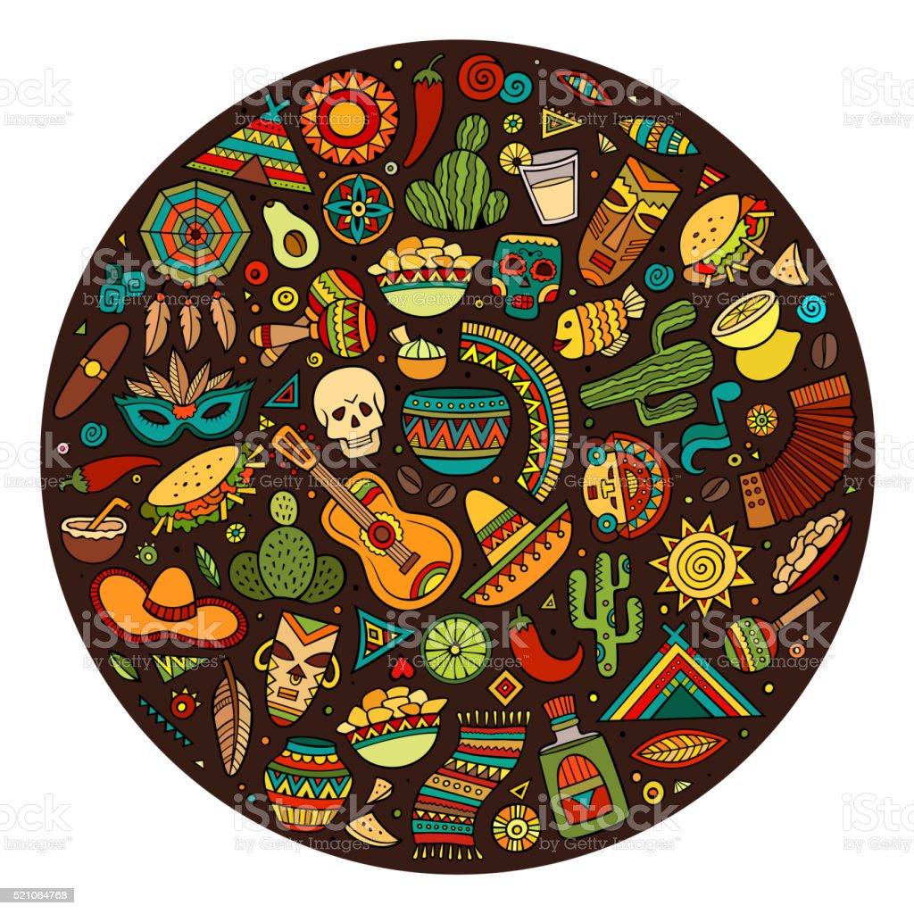 Cartoon Latin American Symbols - 663.0KB