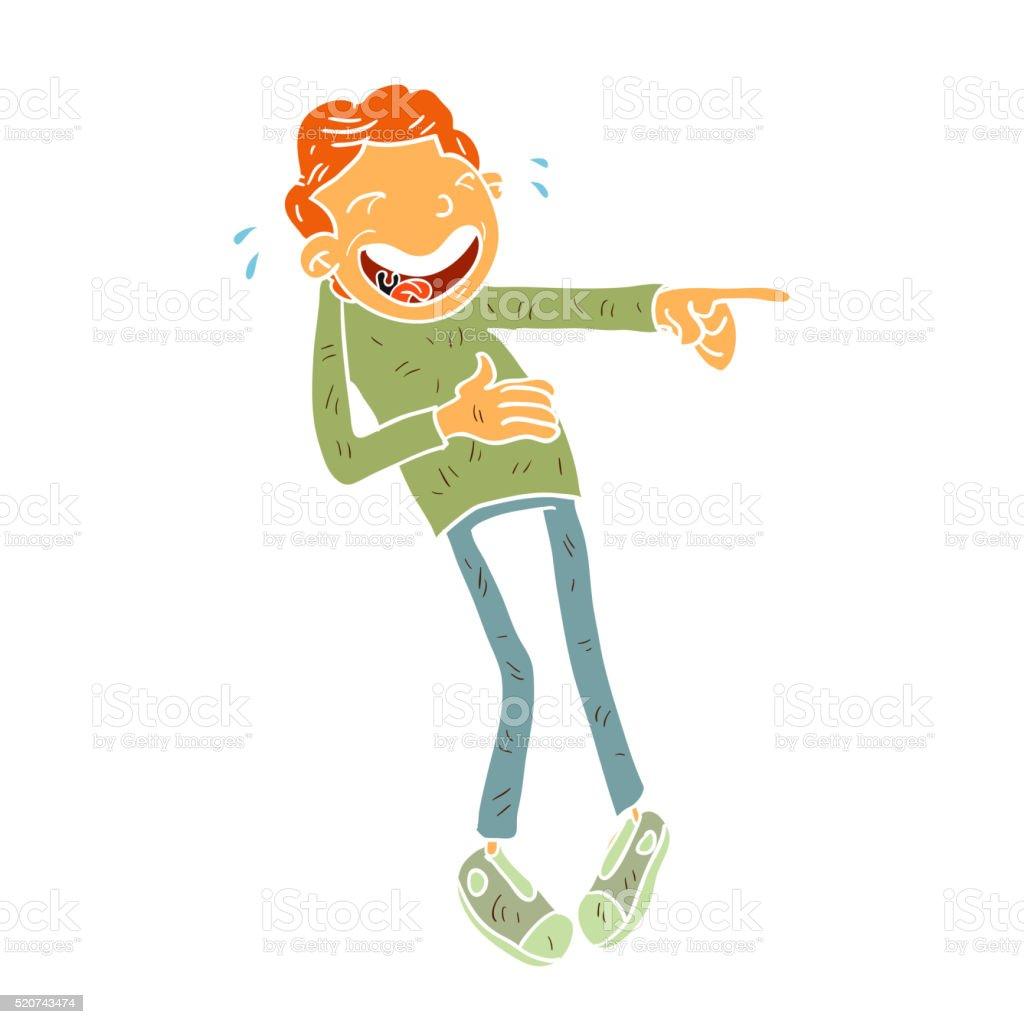 Cartoon laugh illustration vector art illustration
