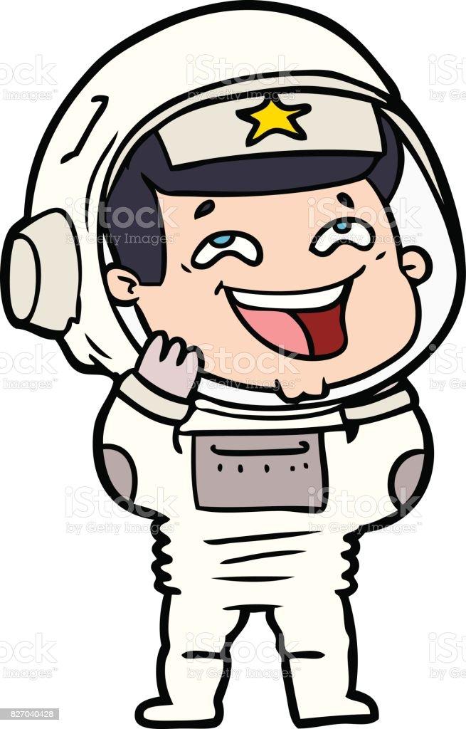 Cartoon Lachen Astronaut Stockvectorkunst En Meer Beelden Van
