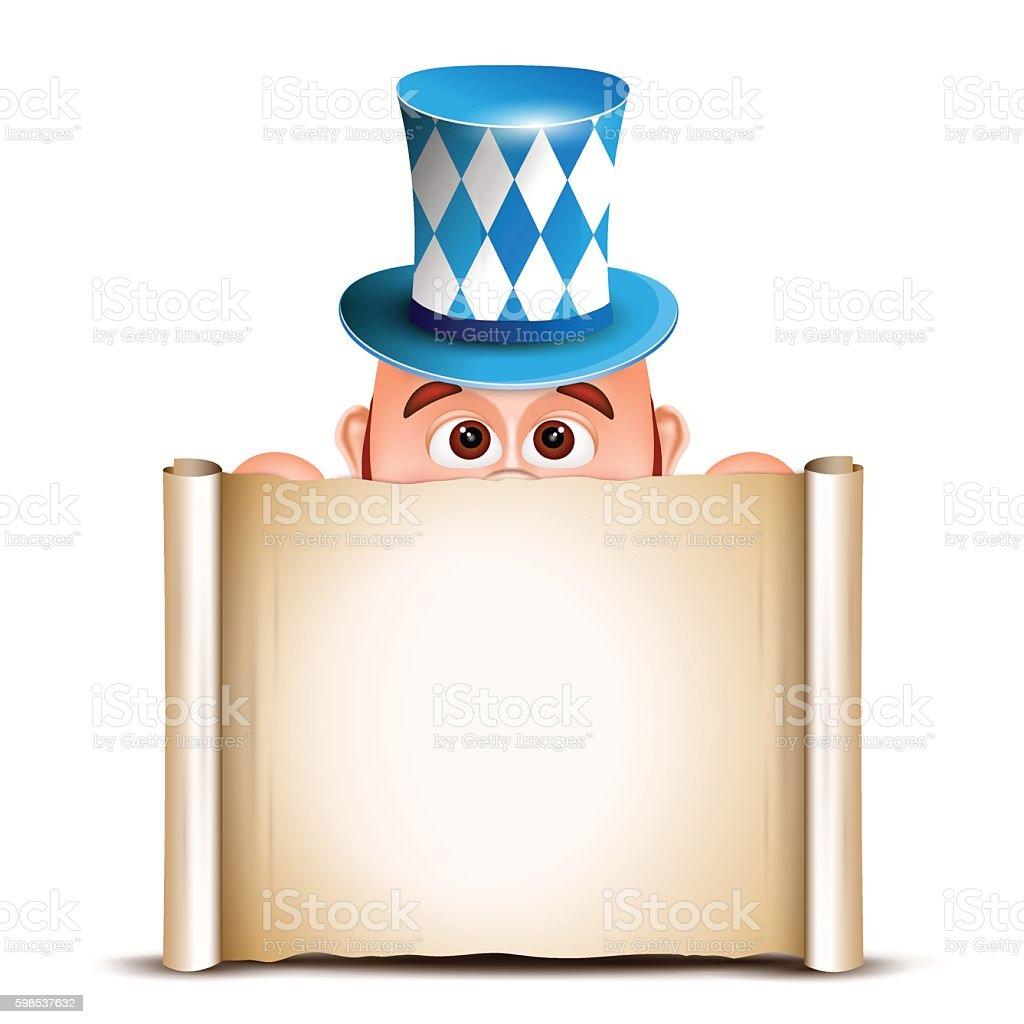 Cartoon Leprechaun in a bavarian hat. Card for Oktoberfest. Vect cartoon leprechaun in a bavarian hat card for oktoberfest vect – cliparts vectoriels et plus d'images de abstrait libre de droits