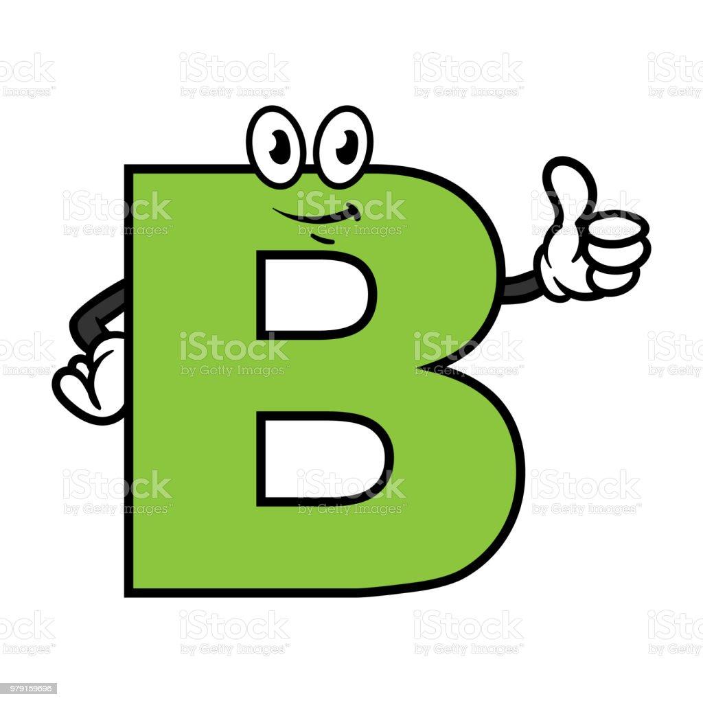 ilustração de personagem de desenho animado letra b e mais banco de