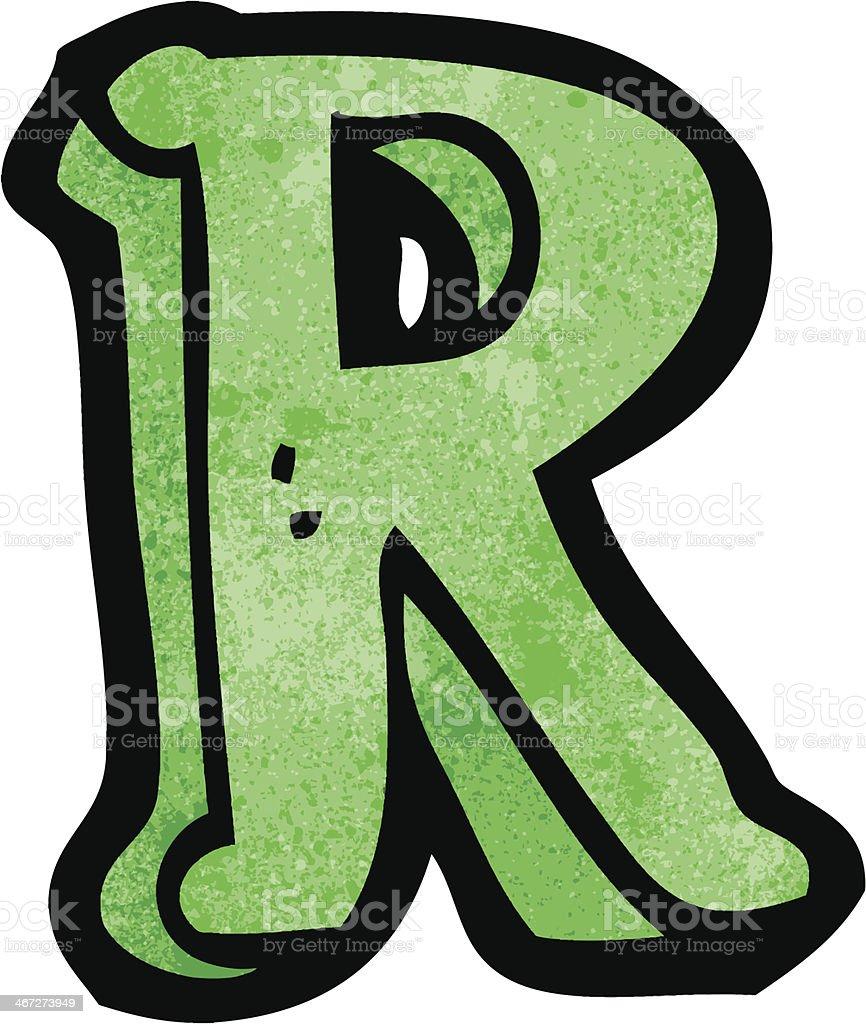 Comic Buchstabe R Stock Vektor Art und mehr Bilder von Alphabet ...
