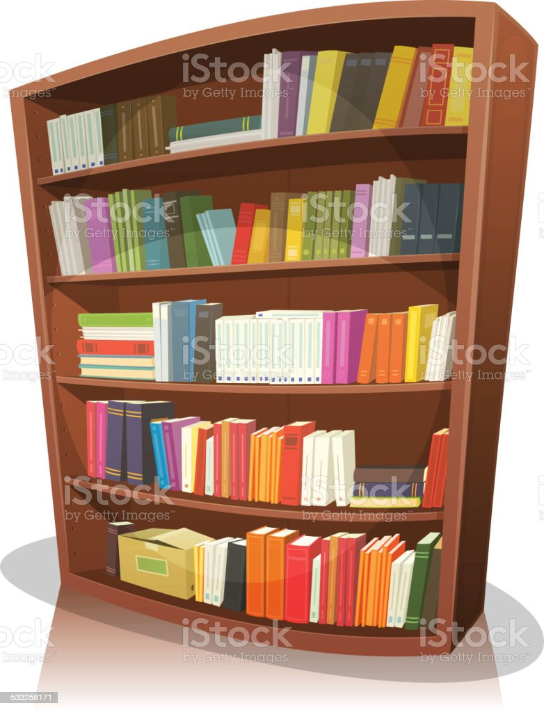 Cartoon Library Bookshelf Royalty Free Stock Vector Art Amp More Images