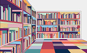 Illustration of library