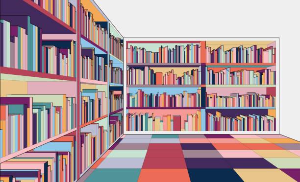 만화 도서관 - library stock illustrations