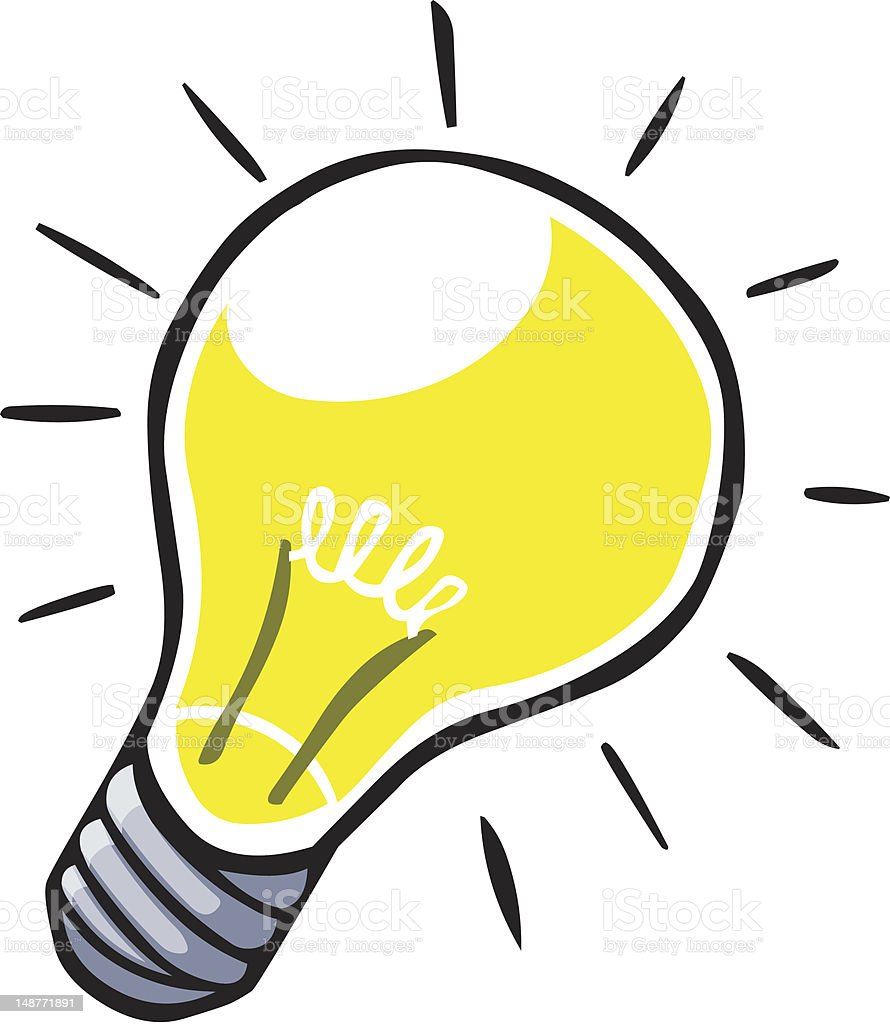 cartoon light bulb stock vector art more images of cartoon rh istockphoto com free clipart light bulb idea free clip art lightbulb ideas