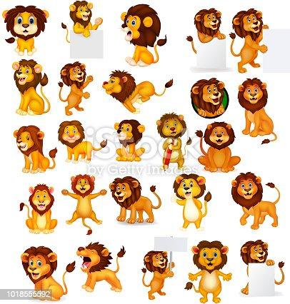 Cartoon lion collection set