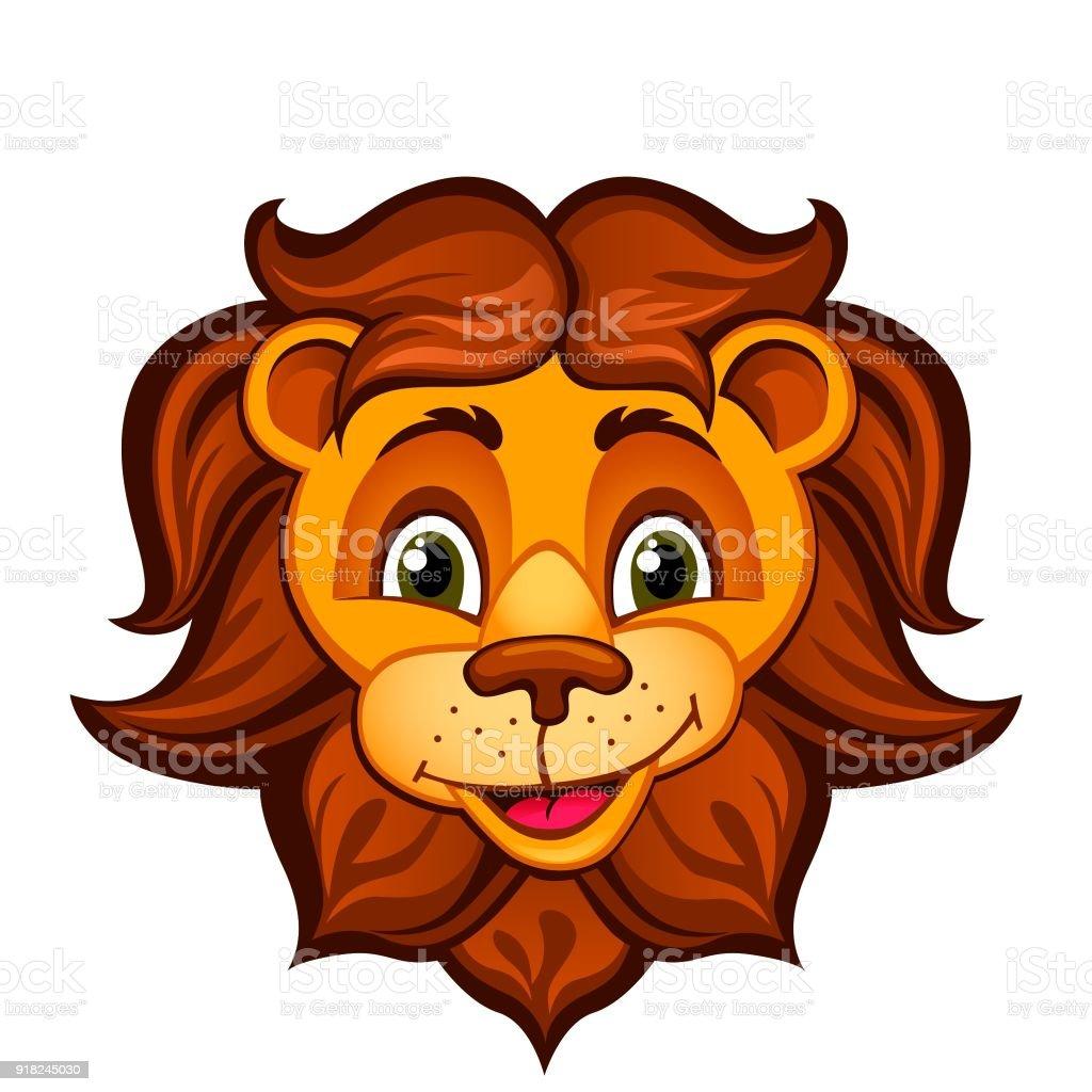 cartoon lion head stock vector art more images of africa 918245030 rh istockphoto com cartoon lion head outline cartoon lion head clip art