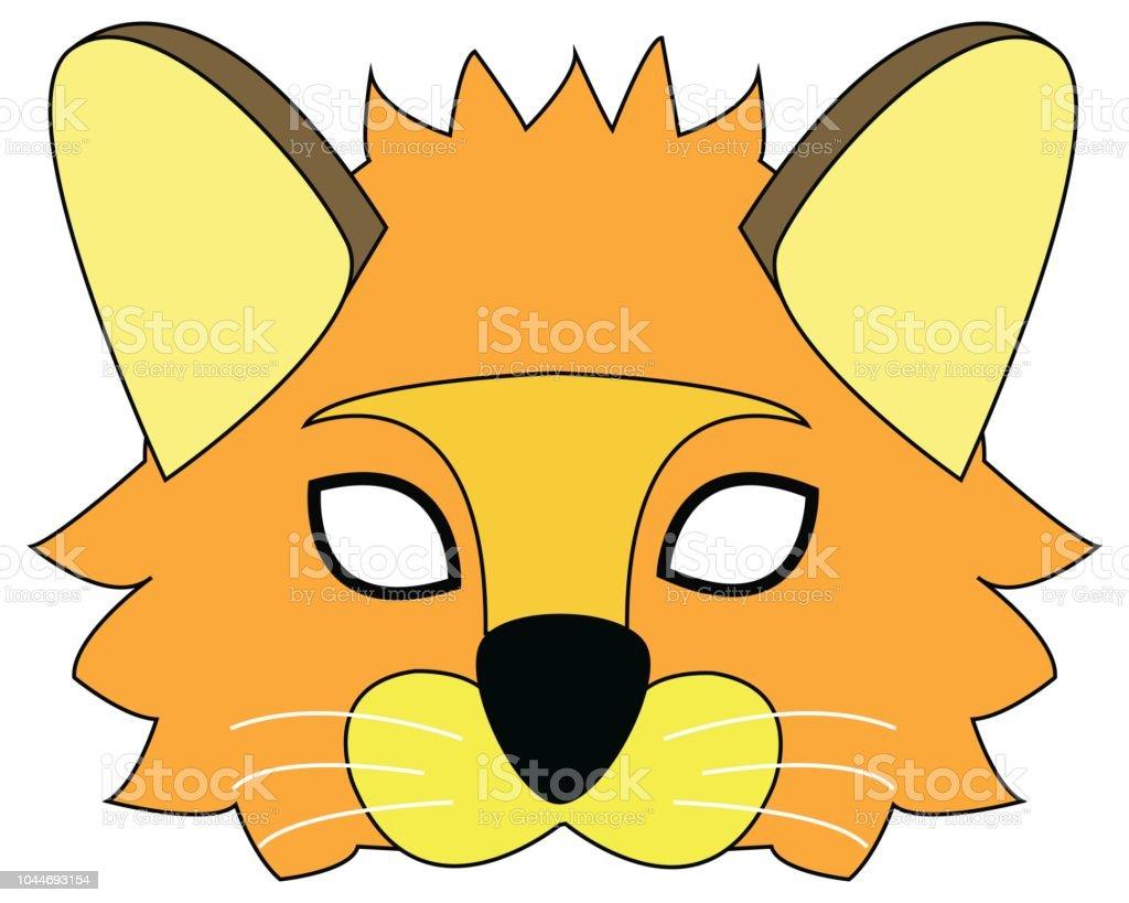 Cartoon Lion Mask For Children Masquerade Vector Mask