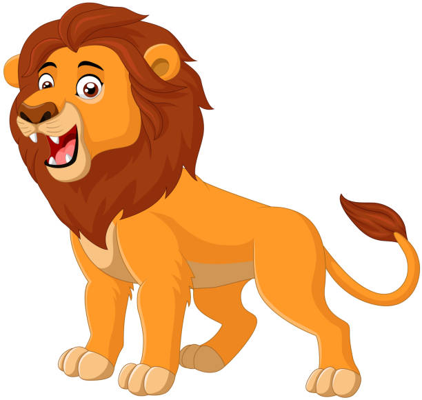 cartoon lion roaring - lion stock illustrations, clip art, cartoons, & icons