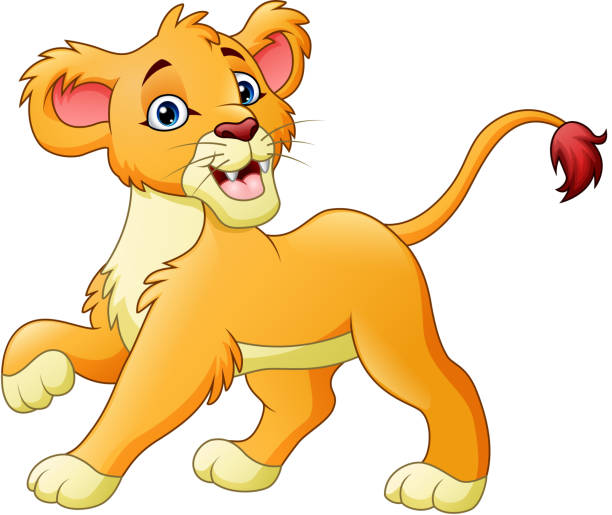 M A S K Cartoon Characters : Royalty free cartoon of a baby lion clip art vector