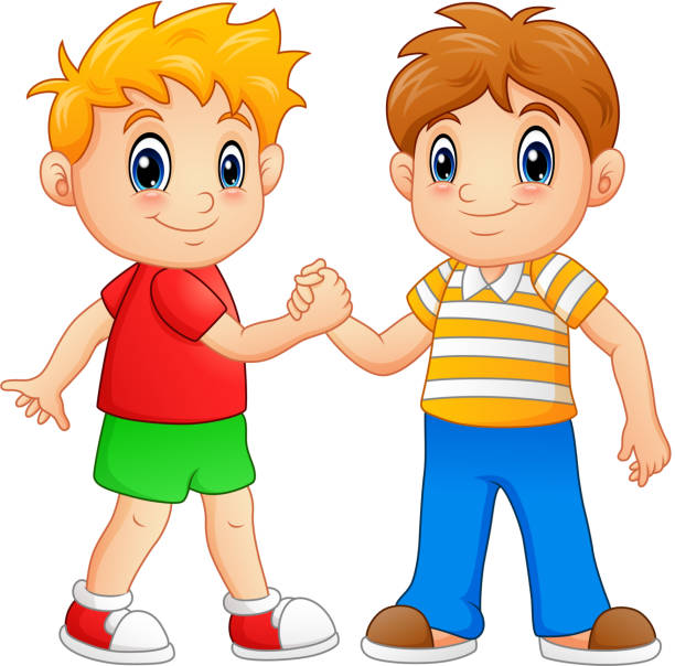 Royalty Free Children Shaking Hands Clip Art, Vector ...