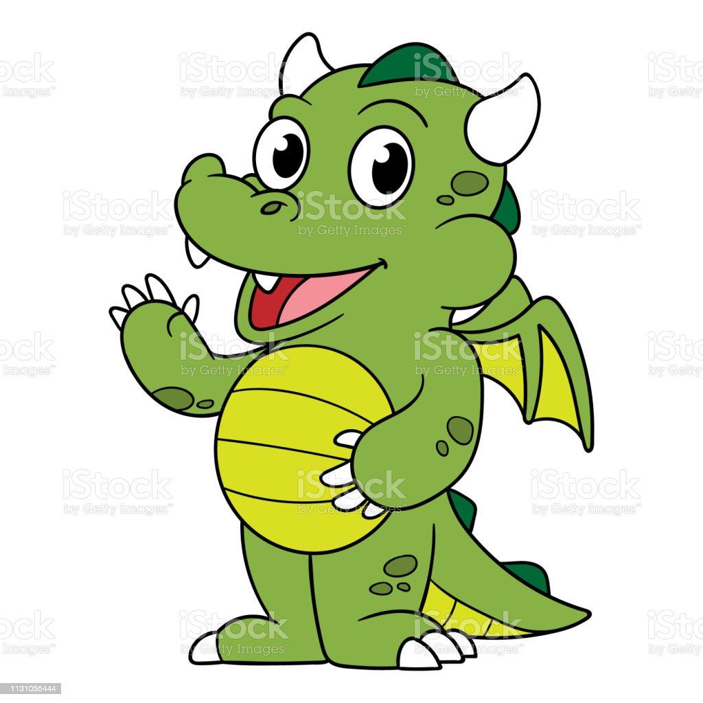 Cartoon Little Dragon Stock Illustration - Download Image Now