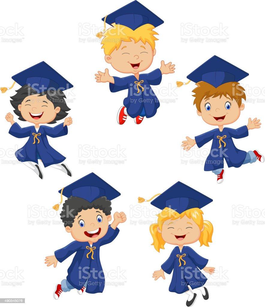 royalty free preschool graduation silhouette clip art vector images rh istockphoto com Preschool Graduation Border Clip Art Preschool Graduation Border Clip Art