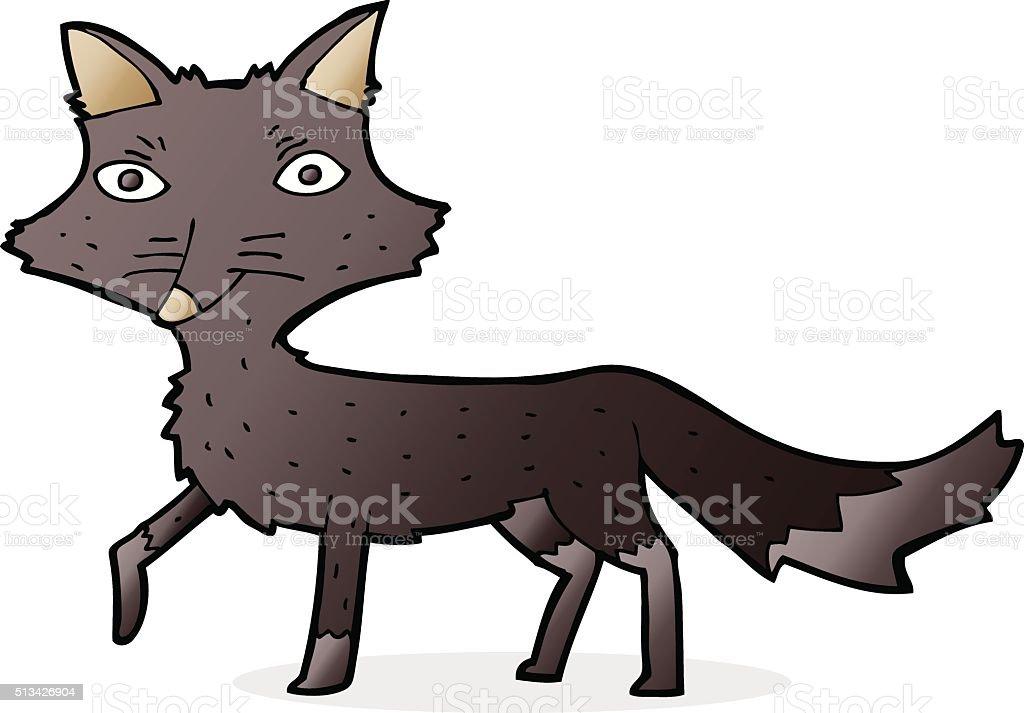 カットイラストオオカミの小さな いたずら書きのベクターアート素材や