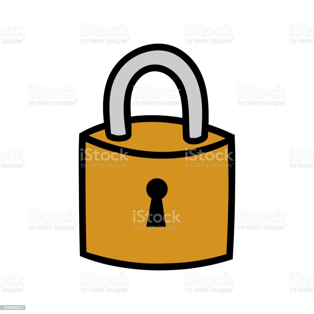 cartoon lock illustration stock vector art amp more images