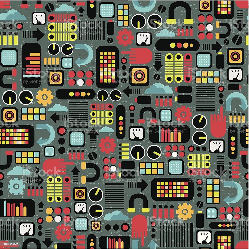 Cartoon machines background. royalty-free stock vector art