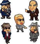 cartoon mafia icon