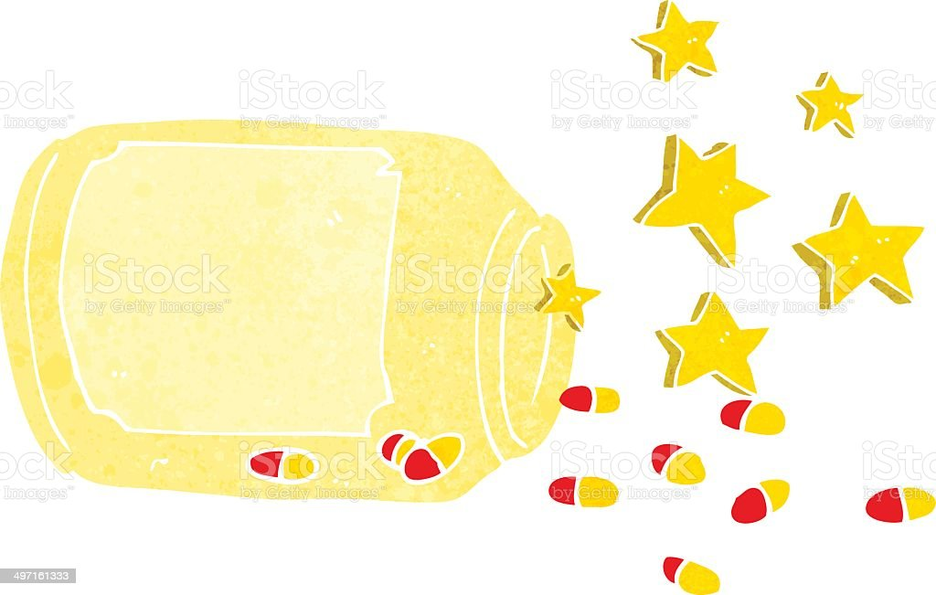 cartoon magic pills royalty-free stock vector art